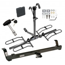 Trailer Tow Hitch For 94-04 Ford Mustang Platform Style 2 Bike Rack w/ Hitch Lock and Cover