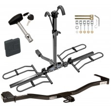 Trailer Tow Hitch For 93-01 Nissan Altima Platform Style 2 Bike Rack w/ Hitch Lock and Cover