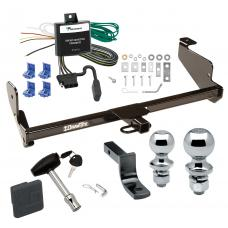 """Trailer Tow Hitch For 00-04 Ford Focus Sedan Deluxe Package Wiring 2"""" and 1-7/8"""" Ball and Lock"""