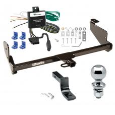 """Trailer Tow Hitch For 00-04 Ford Focus Sedan Complete Package w/ Wiring Draw Bar and 2"""" Ball"""