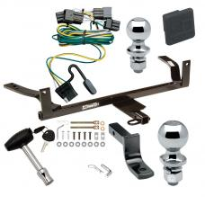 """Trailer Tow Hitch For 00-03 Ford Taurus Mercury Sable Sedan Deluxe Package Wiring 2"""" and 1-7/8"""" Ball and Lock"""