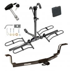 Trailer Tow Hitch For 01-06 Hyundai Elantra Platform Style 2 Bike Rack w/ Hitch Lock and Cover