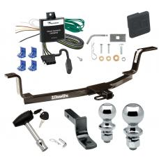 """Trailer Tow Hitch For 01-06 Hyundai Elantra Deluxe Package Wiring 2"""" and 1-7/8"""" Ball and Lock"""