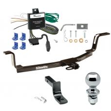 """Trailer Tow Hitch For 01-06 Hyundai Elantra Complete Package w/ Wiring Draw Bar and 2"""" Ball"""