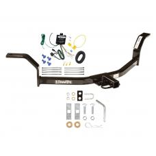 Trailer Tow Hitch For 01-05 Honda Civic Trailer Hitch Tow Receiver w/ Wiring Harness Kit