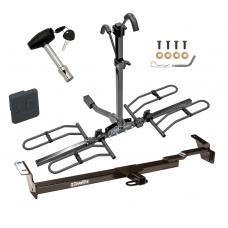 Trailer Tow Hitch For 97-04 Toyota Camry 99-03 Solara Platform Style 2 Bike Rack w/ Hitch Lock and Cover