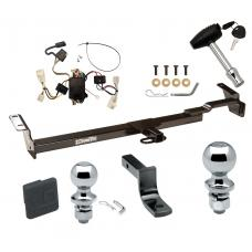 """Trailer Tow Hitch For 02-04 Toyota Camry 4 Dr. Sedan Deluxe Package Wiring 2"""" and 1-7/8"""" Ball and Lock"""