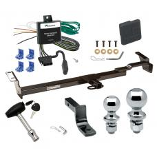 "Trailer Tow Hitch For 99-03 Toyota Solara Deluxe Package Wiring 2"" and 1-7/8"" Ball and Lock"