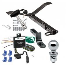 """Trailer Tow Hitch For 02-06 Acura RSX 02-05 Honda Civic Si Complete Package w/ Wiring Draw Bar and 2"""" Ball"""