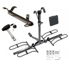 Trailer Tow Hitch For 03-11 Honda Element Platform Style 2 Bike Rack w/ Hitch Lock and Cover