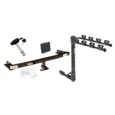 Trailer Tow Hitch w/ 4 Bike Rack For 05-06 Nissan X-Trail Canada Only tilt away adult or child arms fold down carrier w/ Lock and Cover