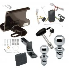 """Trailer Tow Hitch For 04-11 Chevy Aveo 5 Dr. Hatchback 09 Pontiac G3 Deluxe Package Wiring 2"""" and 1-7/8"""" Ball and Lock"""