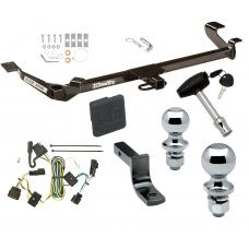 "Trailer Tow Hitch For 05-10 Chevy Cobalt Except SS 05-06 Pontiac Pursuit Canada Only 4 Dr Deluxe Package Wiring 2"" and 1-7/8"" Ball and Lock"
