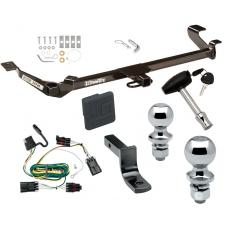 "Trailer Tow Hitch For 05-10 Chevy Cobalt Except SS 07-09 Pontiac G5 Except GT 05-06 Pursuit 2 Dr Deluxe Package Wiring 2"" and 1-7/8"" Ball and Lock"