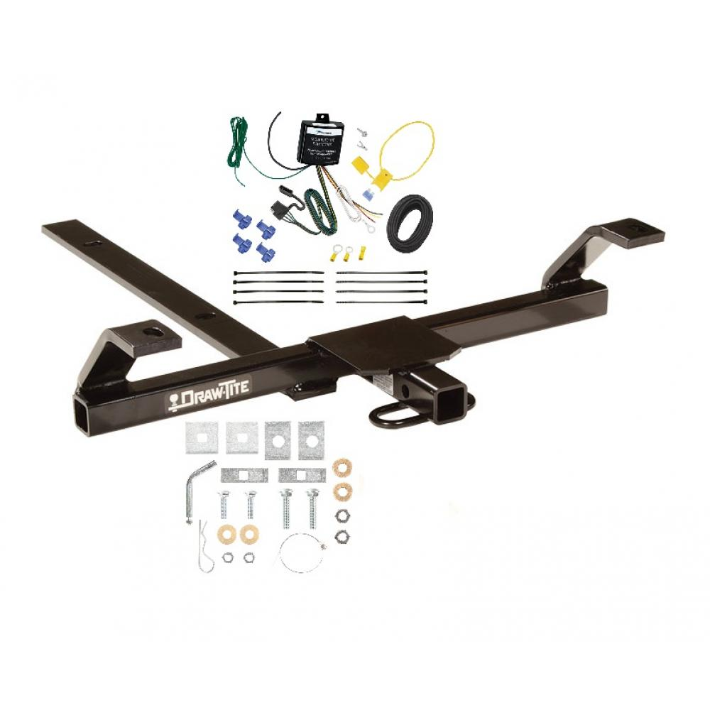 Trailer Tow Hitch For 03-06 Nissan Sentra Tow Receiver w/ Wiring Harness on