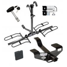 Trailer Tow Hitch For 06-12 Mitsubishi Eclipse Platform Style 2 Bike Rack w/ Hitch Lock and Cover