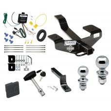 """Trailer Tow Hitch For 06-12 Mitsubishi Eclipse Deluxe Package Wiring 2"""" and 1-7/8"""" Ball and Lock"""