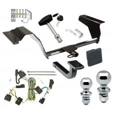 "Trailer Tow Hitch For 05-10 Chevy Cobalt SS 08 Sport 4 Dr Deluxe Package Wiring 2"" and 1-7/8"" Ball and Lock"