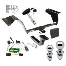 "Trailer Tow Hitch For 05-10 Chevy Cobalt HHR 07-09 Pontiac G5 GT Deluxe Package Wiring 2"" and 1-7/8"" Ball and Lock"