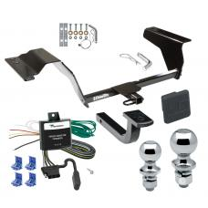 """Trailer Tow Hitch For 05-07 Saturn Ion 3 Red Line Deluxe Package Wiring 2"""" and 1-7/8"""" Ball and Lock"""