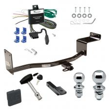 """Trailer Tow Hitch For 06-11 Hyundai Accent KIA Rio 4 Dr. Sedan Deluxe Package Wiring 2"""" and 1-7/8"""" Ball and Lock"""