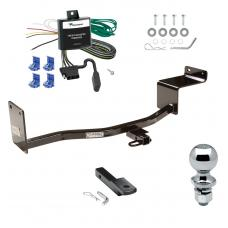 """Trailer Tow Hitch For 06-11 Hyundai Accent KIA Rio 4 Dr. Sedan Complete Package w/ Wiring Draw Bar and 2"""" Ball"""