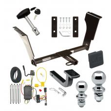 """Trailer Tow Hitch For 03-07 Cadillac CTS 04-07 V Deluxe Package Wiring 2"""" and 1-7/8"""" Ball and Lock"""