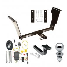 """Trailer Tow Hitch For 03-07 Cadillac CTS 04-07 V Complete Package w/ Wiring Draw Bar and 2"""" Ball"""