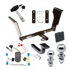 """Trailer Tow Hitch For 08-13 Cadillac CTS 4 Dr. Sedan Deluxe Package Wiring 2"""" and 1-7/8"""" Ball and Lock"""