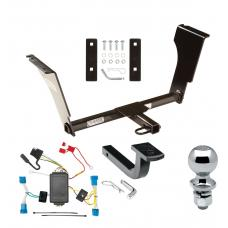 """Trailer Tow Hitch For 08-13 Cadillac CTS 4 Dr. Sedan Complete Package w/ Wiring Draw Bar and 2"""" Ball"""