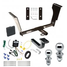 "Trailer Tow Hitch For 05-11 Cadillac STS 09-13 CTS V Deluxe Package Wiring 2"" and 1-7/8"" Ball and Lock"