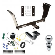 "Trailer Tow Hitch For 05-11 Cadillac STS 09-13 CTS V Complete Package w/ Wiring Draw Bar and 2"" Ball"
