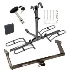 Trailer Tow Hitch For 07-12 Dodge Caliber Platform Style 2 Bike Rack w/ Hitch Lock and Cover