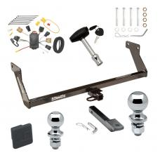 """Trailer Tow Hitch For 07 Dodge Caliber Deluxe Package Wiring 2"""" and 1-7/8"""" Ball and Lock"""