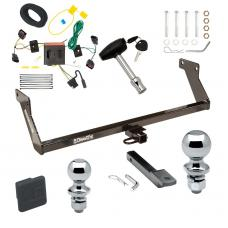 """Trailer Tow Hitch For 08-12 Dodge Caliber Except SRT-4 Deluxe Package Wiring 2"""" and 1-7/8"""" Ball and Lock"""