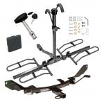Trailer Tow Hitch For 06-09 Ford Fusion Mercury Milan Lincoln MKZ Zephyr 03-08 Mazda 6 Platform Style 2 Bike Rack w/ Hitch Lock and Cover