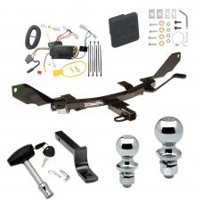 """Trailer Tow Hitch For 03-08 Mazda 6 Deluxe Package Wiring 2"""" and 1-7/8"""" Ball and Lock"""