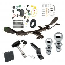"""Trailer Tow Hitch For 06-09 Mercury Milan Lincoln MKZ 06 Zephyr Deluxe Package Wiring 2"""" and 1-7/8"""" Ball and Lock"""