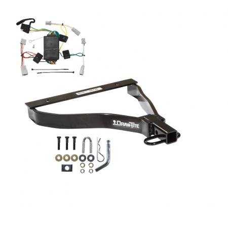 Trailer Tow Hitch For 07-08 Honda Fit Trailer Hitch Tow Receiver w/ Wiring Harness Kit