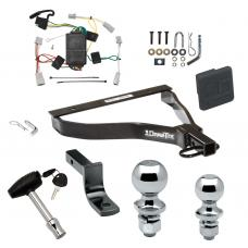 """Trailer Tow Hitch For 07-08 Honda Fit Deluxe Package Wiring 2"""" and 1-7/8"""" Ball and Lock"""