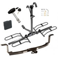 Trailer Tow Hitch For 06-10 KIA Optima Magentis Platform Style 2 Bike Rack w/ Hitch Lock and Cover
