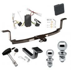 """Trailer Tow Hitch For 09-10 KIA Optima Deluxe Package Wiring 2"""" and 1-7/8"""" Ball and Lock"""