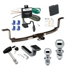 """Trailer Tow Hitch For 06-10 KIA Magentis Canada Only Deluxe Package Wiring 2"""" and 1-7/8"""" Ball and Lock"""