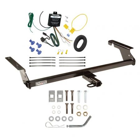 Trailer Tow Hitch For 04-11 Volvo S40 Sedan 05-10 V50 Wagon Trailer Hitch Tow Receiver w/ Wiring Harness Kit