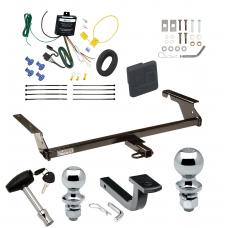 """Trailer Tow Hitch For 04-11 Volvo S40 Sedan 2004-1/2 05-10 V50 Wagon Except T5 R-Design Deluxe Package Wiring 2"""" and 1-7/8"""" Ball and Lock"""