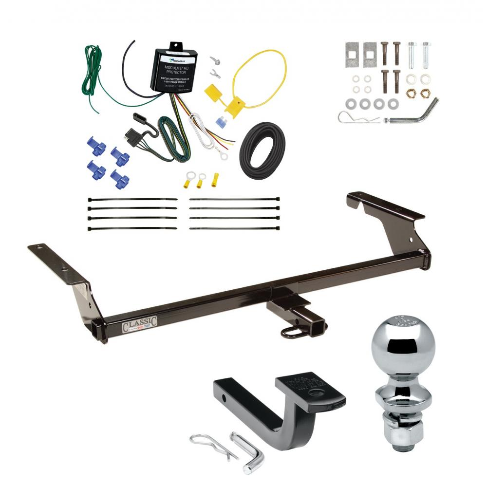 [EQHS_1162]  Trailer Tow Hitch For 04-11 Volvo S40 Sedan 2004-1/2 05-10 V50 Wagon Except  T5 R-Design Complete Package w/ Wiring Draw Bar and 2