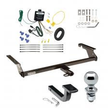 """Trailer Tow Hitch For 04-11 Volvo S40 Sedan 2004-1/2 05-10 V50 Wagon Except T5 R-Design Complete Package w/ Wiring Draw Bar and 2"""" Ball"""