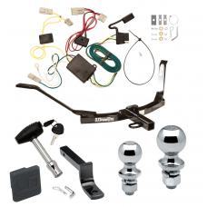 """Trailer Tow Hitch For 03-07 Honda Accord Sedan Deluxe Package Wiring 2"""" and 1-7/8"""" Ball and Lock"""