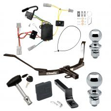 """Trailer Tow Hitch For 06-07 Honda Accord Coupe Deluxe Package Wiring 2"""" and 1-7/8"""" Ball and Lock"""