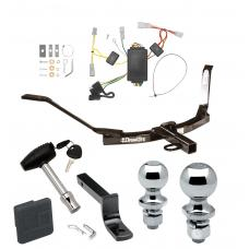 """Trailer Tow Hitch For 03-05 Honda Accord Coupe Deluxe Package Wiring 2"""" and 1-7/8"""" Ball and Lock"""